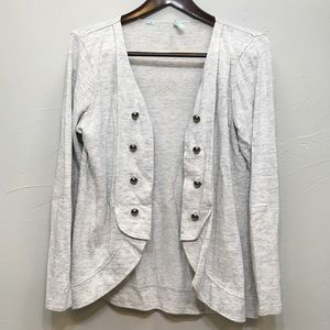 Maurices Heather Gray Military Jacket Cardigan